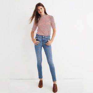 """Madewell 9"""" High Rise Skinny Comfort Stretch Jeans"""